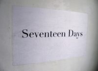 Seventeen Days, 2018, Wheatpasted poster, 36 x 60 inches.
