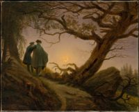 Two Men Contemplating the Moon (1825-1830)