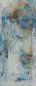 And Hope Was Born. Encaustic wax, 15 x 24 inches.