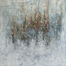 Condition of Humanity. Encaustic wax, 36 x 36 inches.